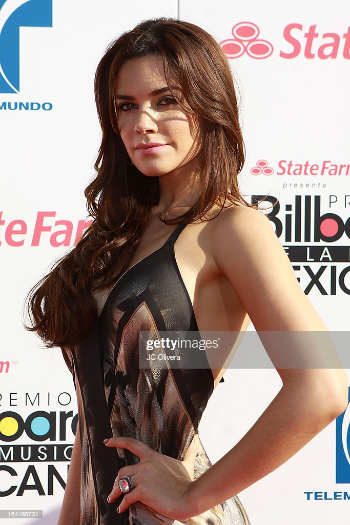Actress Angelica Celaya attends the 2012 Billboard Mexican Music Awards at The Shrine Auditorium on October 18, 2012 in Los Angeles, California.