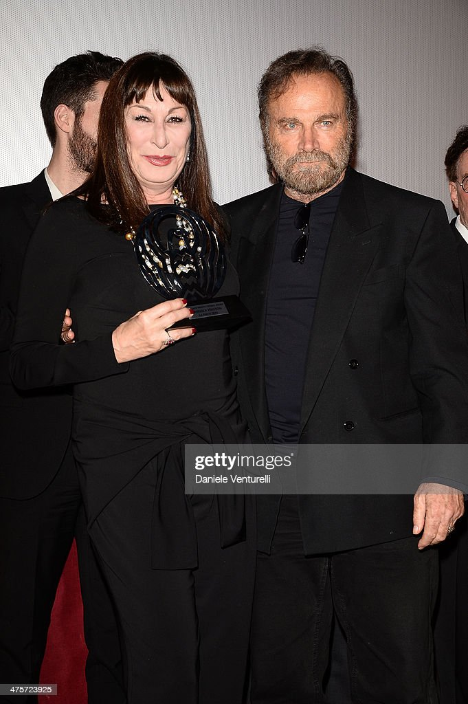 Actress Angelica Huston and <a gi-track='captionPersonalityLinkClicked' href=/galleries/search?phrase=Franco+Nero&family=editorial&specificpeople=803339 ng-click='$event.stopPropagation()'>Franco Nero</a> attends the 9th Annual L.A. Italia Film, Fashion And Art's Festival Closing Night Awards Ceremony at TCL Chinese Theatre on February 28, 2014 in Hollywood, California.