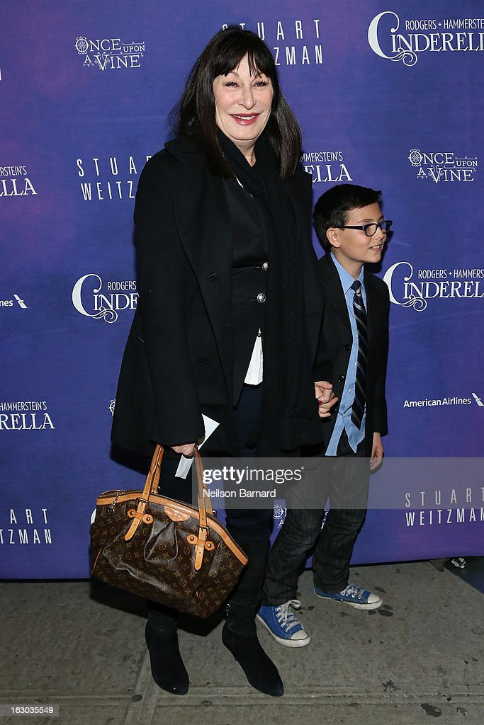 Actress Angelica Huston attends the 'Cinderella' Broadway Opening Night at Broadway Theatre on March 3, 2013 in New York City.