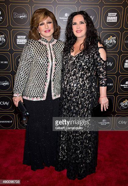Actress Angelica Maria and actress singer and comedienne Angelica Vale attend People En Espanol 2014 Los 50 Mas Bellos at Capitale on May 12 2014 in...