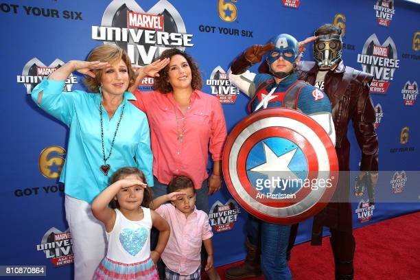 Actress Angelica Meria and Actress Angelica Vale arrive at Marvel Universe LIVE Age Of Heroes World Premiere Celebrity Red Carpet Event at Staples...