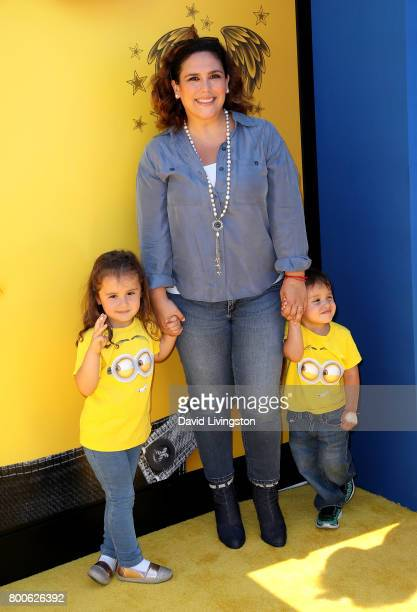 Actress Angelica Vale Angelica Padron and Daniel Padron Vale attend the premiere of Universal Pictures and Illumination Entertainment's 'Despicable...
