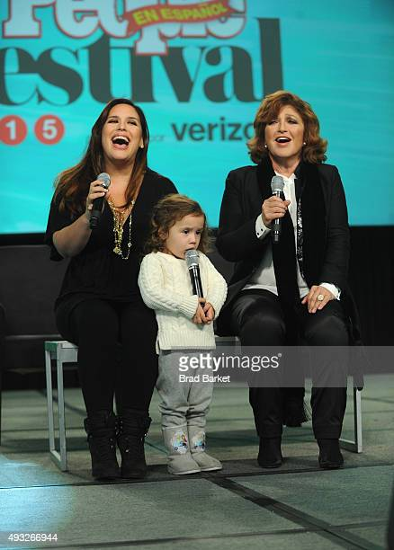 Actress Angelica Vale performs onstage with her daughter and actress Angelica Maria during Festival PEOPLE En Espanol 2015 presented by Verizon at...