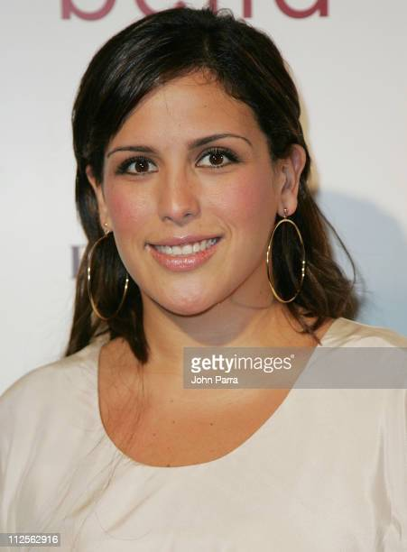 Actress Angelica Vale poses during arrivals for the premiere of the movie 'Bella' at the Gusman Theatre on October 23 2007 in Miami Florida