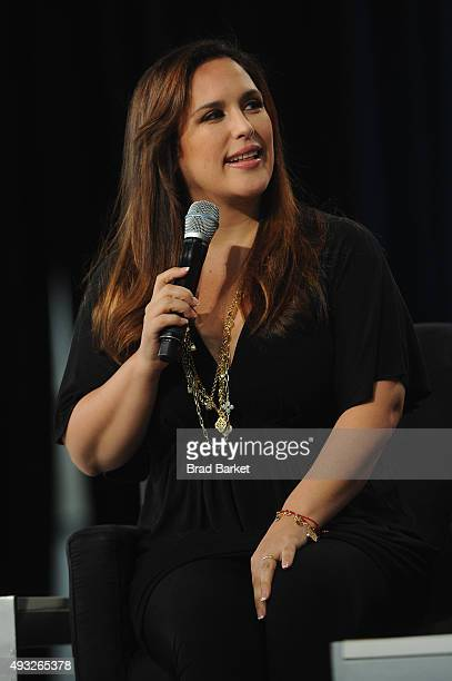 Actress Angelica Vale speaks onstage during Festival PEOPLE En Espanol 2015 presented by Verizon at Jacob Javitz Center on October 18 2015 in New...