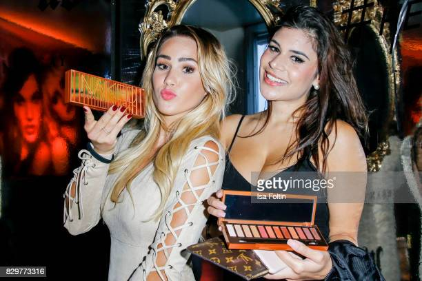 TV actress Angelina Heger and TV actress Tanja Tischewitsch during the Urban Decay Naked Heat Launch at House of Weekend on August 10 2017 in Berlin...