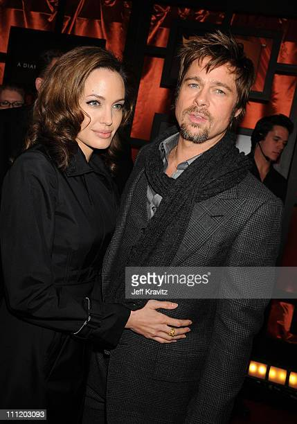 Actress Angelina Jolie and Actor Brad Pitt arrives at the 13th ANNUAL CRITICS' CHOICE AWARDS at the Santa Monica Civic Auditorium on January 7 2008...