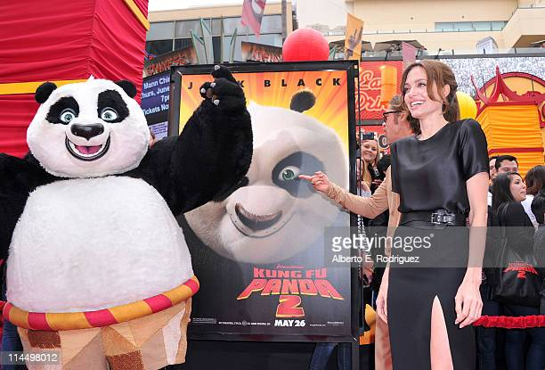 Actress Angelina Jolie arrives at DreamWorks Animation's 'Kung Fu Panda 2' Los Angeles Premiere held at Grauman's Chinese Theatre on May 22 2011 in...