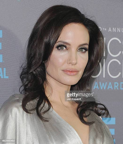 Actress Angelina Jolie arrives at the 20th Annual Critics' Choice Movie Awards at Hollywood Palladium on January 15 2015 in Los Angeles California
