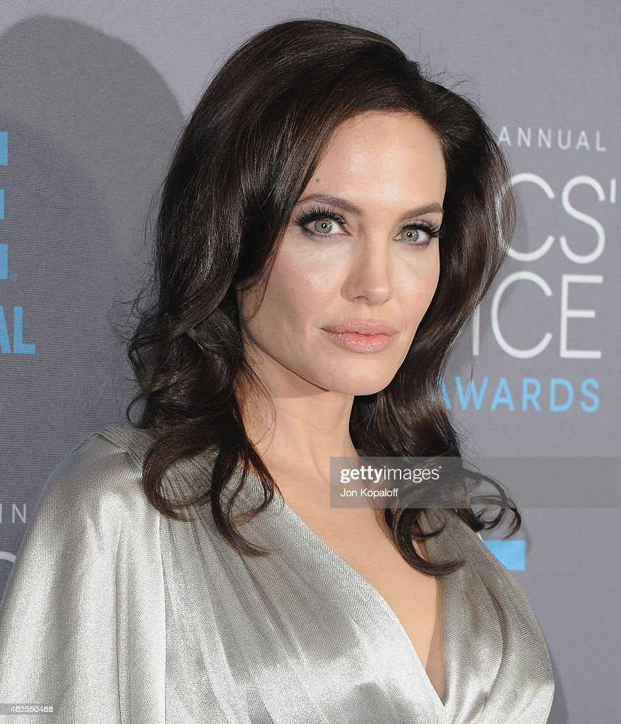 Actress <a gi-track='captionPersonalityLinkClicked' href=/galleries/search?phrase=Angelina+Jolie&family=editorial&specificpeople=201591 ng-click='$event.stopPropagation()'>Angelina Jolie</a> arrives at the 20th Annual Critics' Choice Movie Awards at Hollywood Palladium on January 15, 2015 in Los Angeles, California.