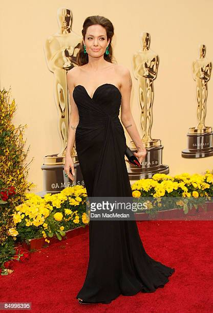 Actress Angelina Jolie arrives at the 81st Academy Awards at The Kodak Theatre on February 22 2009 in Hollywood California