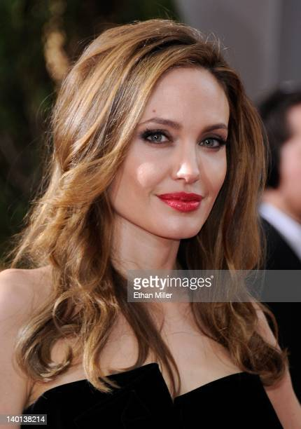 Actress Angelina Jolie arrives at the 84th Annual Academy Awards at the Hollywood Highland Center February 26 2012 in Hollywood California