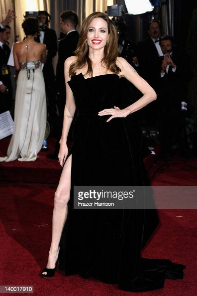 Actress Angelina Jolie arrives at the 84th Annual Academy Awards held at the Hollywood Highland Center on February 26 2012 in Hollywood California