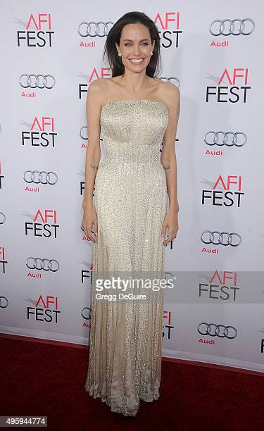 Actress Angelina Jolie arrives at the AFI FEST 2015 presented by Audi Opening Night Gala Premiere of Universal Pictures' 'By The Sea' at TCL Chinese...
