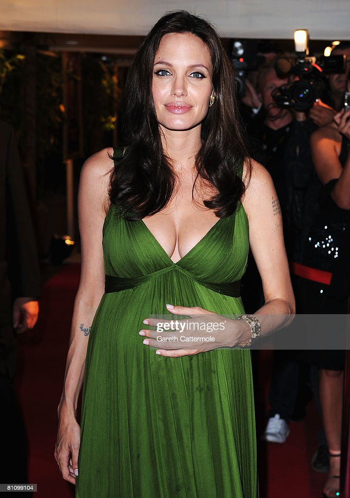 Actress Angelina Jolie arrives at the Kung Fu Panda Party at Carlton Beach during the 61st International Cannes Film Festival on May 15 2008 in...
