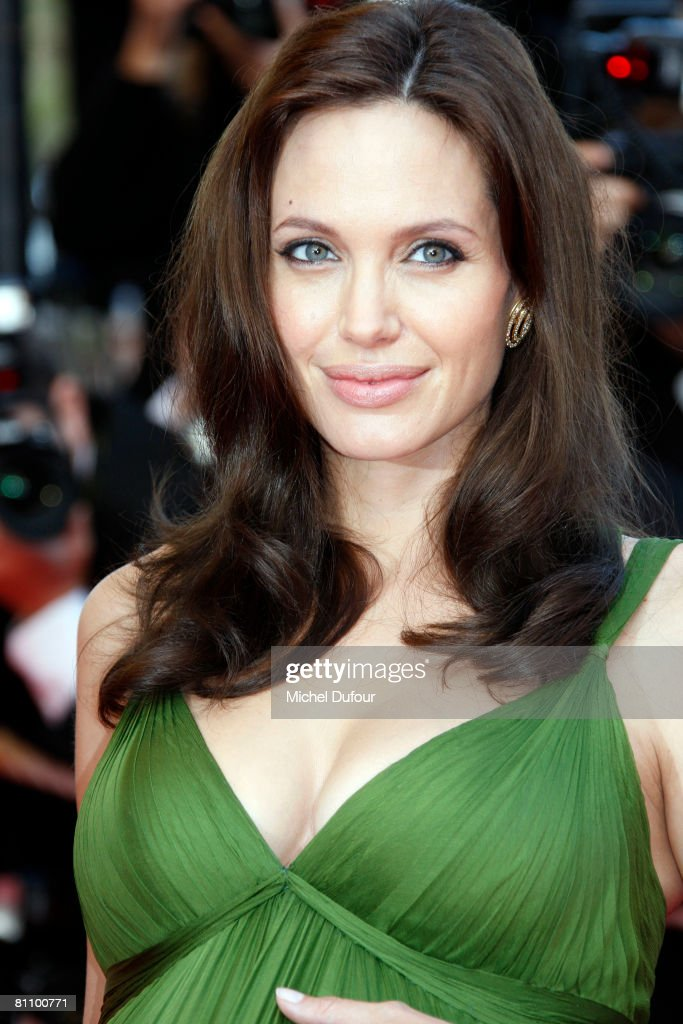 Actress Angelina Jolie arrives at the Kung Fu Panda Premiere at the Palais des Festivals during the 61st International Cannes Film Festival May 15 , 2008 in Cannes, France.