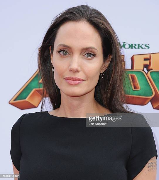 Actress Angelina Jolie arrives at the Los Angeles Premiere 'Kung Fu Panda 3' at TCL Chinese Theatre on January 16 2016 in Hollywood California