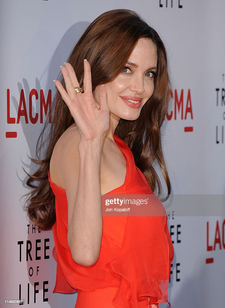 Actress Angelina Jolie arrives at the Los Angeles Premiere 'The Tree Of Life' at the Bing Theatre at LACMA on May 24 2011 in Los Angeles California