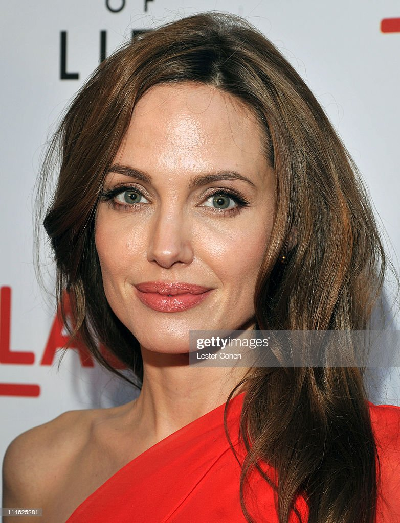 Actress Angelina Jolie arrives at 'The Tree Of Life' Los Angeles Premiere at Bing Theatre at the Los Angeles County Museum of Art on May 24 2011 in...