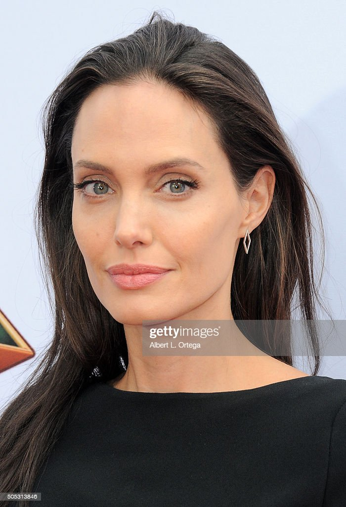 Actress <a gi-track='captionPersonalityLinkClicked' href=/galleries/search?phrase=Angelina+Jolie&family=editorial&specificpeople=201591 ng-click='$event.stopPropagation()'>Angelina Jolie</a> arrives for the premiere of DreamWorks Animation and Twentieth Century Fox's 'Kung Fu Panda 3' held at TCL Chinese Theatre on January 16, 2016 in Hollywood, California.