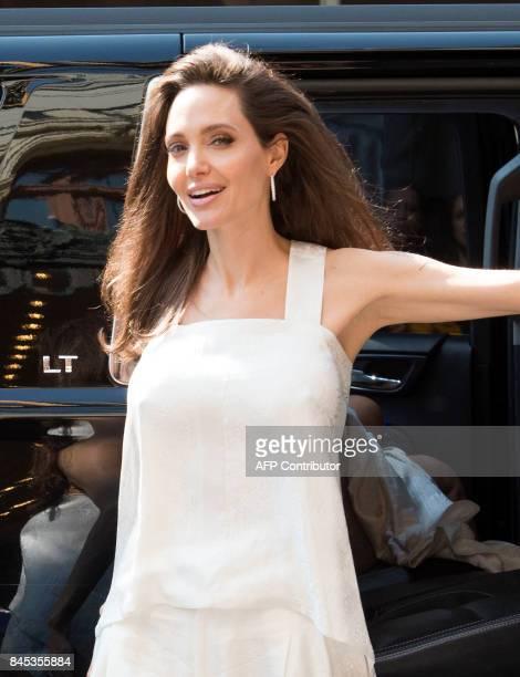 Actress Angelina Jolie arrives for the world premiere of The Breadwinner during the 2017 Toronto International Film Festival September 10 in Toronto...