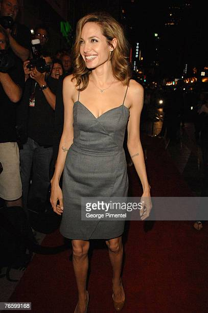 Actress Angelina Jolie at the premiere of 'The Assassination of Jesse James by the Coward Robert Ford' at the Elgin Theatre at The 32nd Annual...