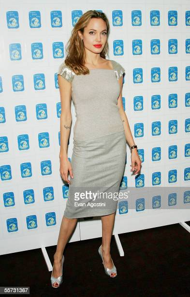 Actress Angelina Jolie attends a special screening of the film 'Peace One Day' at the Ziegfeld Theater September 20 2005 in New York City