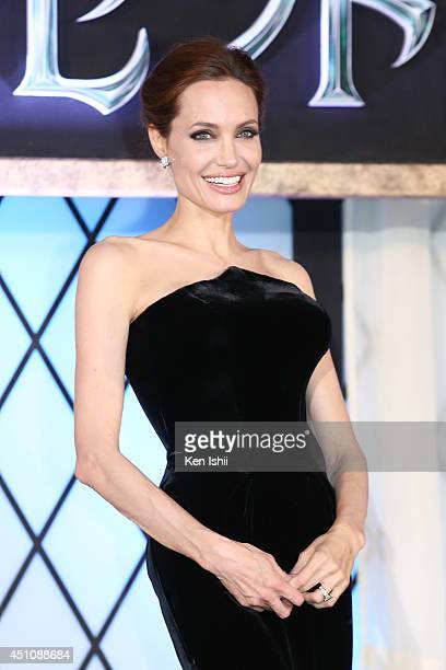 Actress Angelina Jolie attends 'Maleficent' Japan premiere at Ebisu Garden Place on June 23 2014 in Tokyo Japan