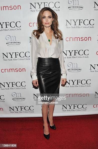 Actress Angelina Jolie attends the 2011 New York Film Critics Circle awards at Crimson on January 9 2012 in New York City
