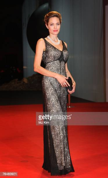 Actress Angelina Jolie attends The Assassination Of Jesse James By The Coward Robert Ford premiere in Venice during day 5 of the 64th Venice Film...