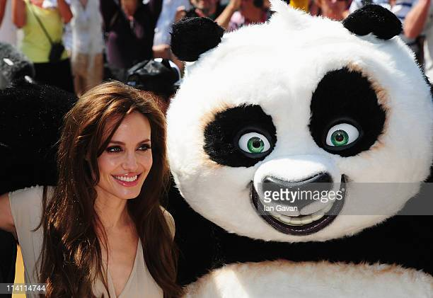 Actress Angelina Jolie attends the 'Kung Fu Panda 2' photocall during the 64th Annual Cannes Film Festival at the Carlton Hotel on May 12 2011 in...