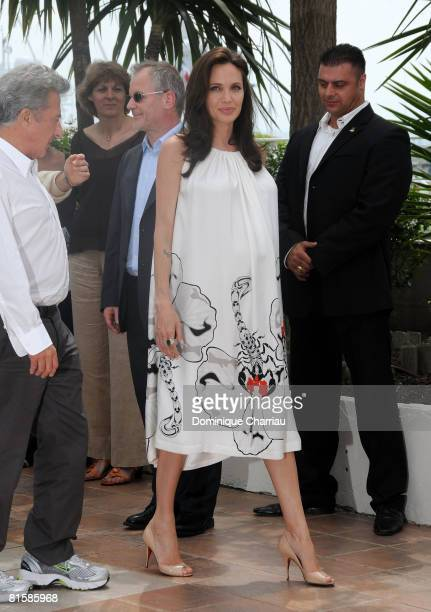 Actress Angelina Jolie attends the 'Kung Fu Panda' photocall at the Palais des Festivals during the 61st Cannes International Film Festival on May 15...