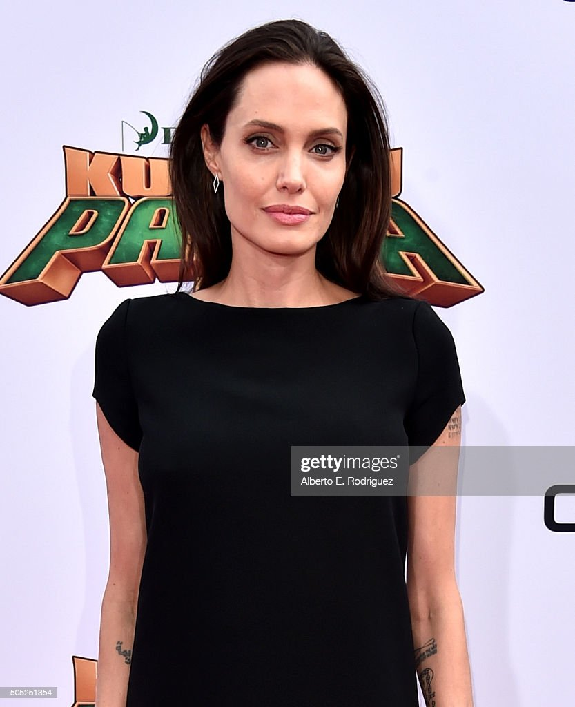 Actress Angelina Jolie attends the premiere of DreamWorks Animation and Twentieth Century Fox's 'Kung Fu Panda 3' at the TCL Chinese Theatre on January 16, 2016 in Hollywood, California.