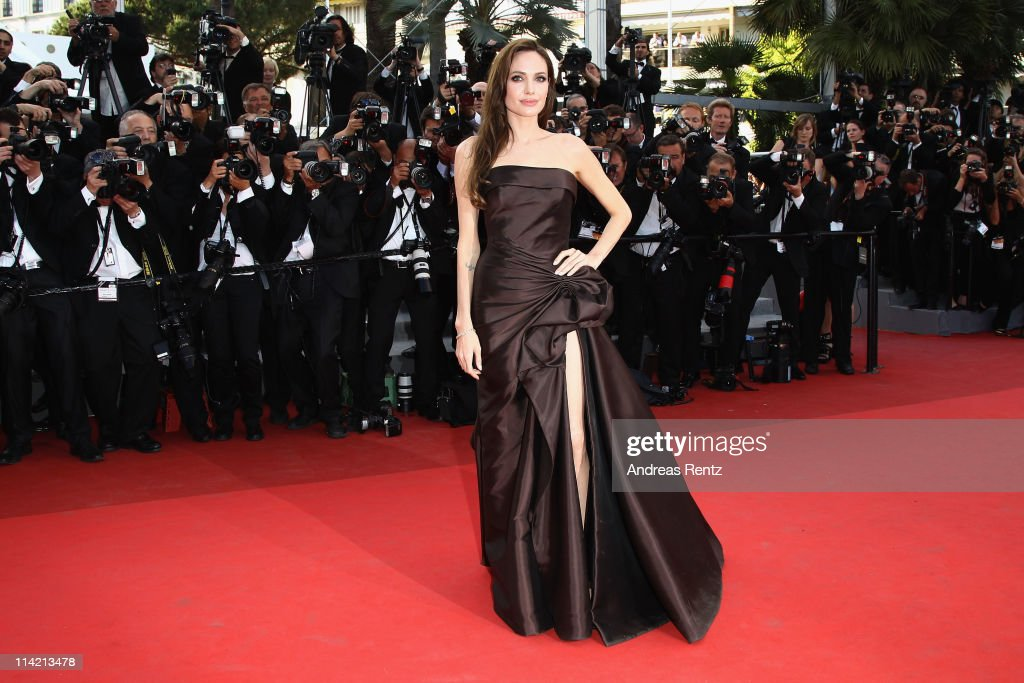 Actress Angelina Jolie attends 'The Tree Of Life' premiere during the 64th Annual Cannes Film Festival at Palais des Festivals on May 16, 2011 in Cannes, France.