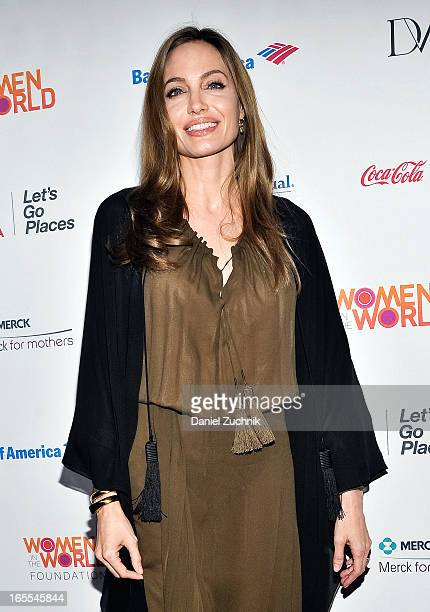 Actress Angelina Jolie attends the Women in the World Summit 2013 on April 4 2013 in New York United States