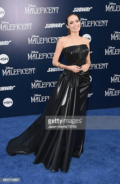 Actress Angelina Jolie attends the World Premiere of Disney's 'Maleficent' at the El Capitan Theatre on May 28 2014 in Hollywood California