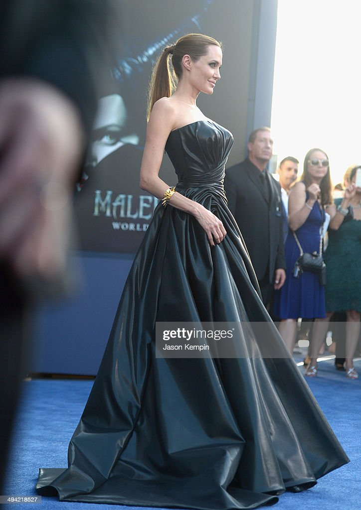 Actress Angelina Jolie attends the World Premiere of Disney's 'Maleficent', starring Angelina Jolie, at the El Capitan Theatre on May 28, 2014 in Hollywood, California.