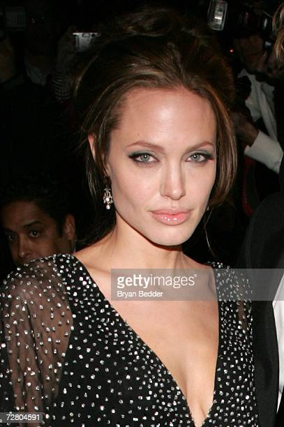 Actress Angelina Jolie attends the World Premiere of 'The Good Shepherd' presented by Universal Pictures at the Ziegfeld Theatre on December 11 2006...