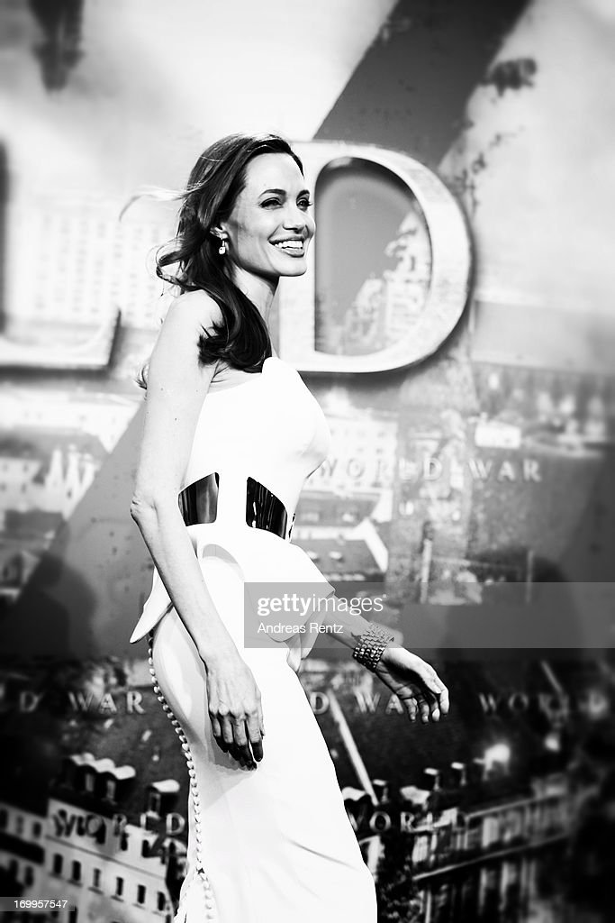 Actress Angelina Jolie attends 'WORLD WAR Z' Germany Premiere at Sony Centre on June 4, 2013 in Berlin, Germany.