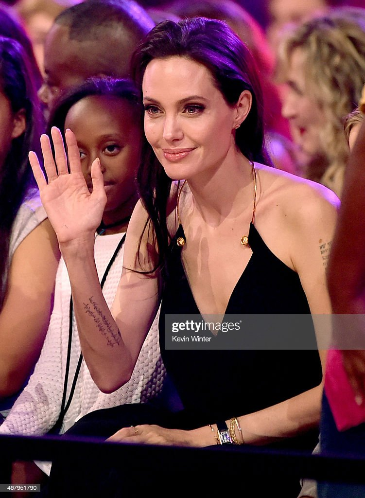 Actress Angelina Jolie in the audience during Nickelodeon's 28th Annual Kids' Choice Awards held at The Forum on March 28 2015 in Inglewood California