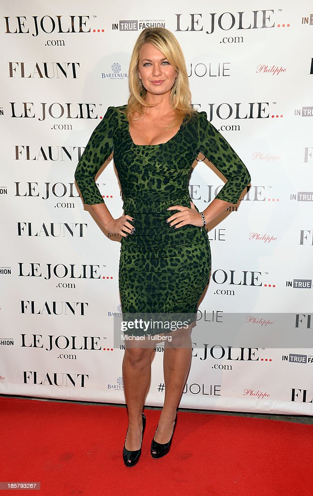 Actress Angeline Rose Troy attends the LeJolie.com launch party at No Vacancy on October 24, 2013 in Los Angeles, California.