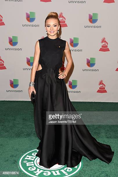 Actress Angelique Boyer attends the 15th Annual Latin GRAMMY Awards at the MGM Grand Garden Arena on November 20 2014 in Las Vegas Nevada