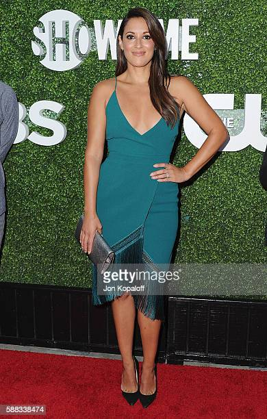 Actress Angelique Cabral arrives at CBS CW Showtime Summer TCA Party at Pacific Design Center on August 10 2016 in West Hollywood California