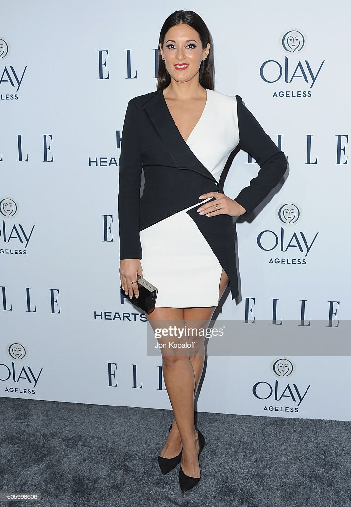 Actress Angelique Cabral arrives at ELLE's 6th Annual Women In Television Dinner at Sunset Tower Hotel on January 20, 2016 in West Hollywood, California.