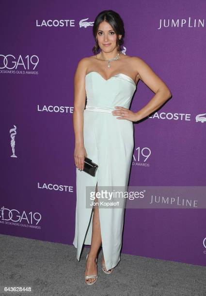 Actress Angelique Cabral arrives at the 19th CDGA at The Beverly Hilton Hotel on February 21 2017 in Beverly Hills California