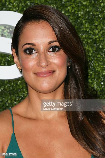 Actress Angelique Cabral arrives at the CBS CW Showtime Summer TCA Party at the Pacific Design Center on August 10 2016 in West Hollywood California