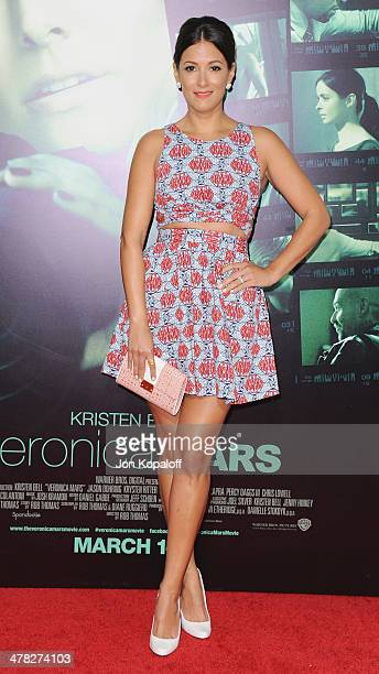 Actress Angelique Cabral arrives at the Los Angeles premiere 'Veronica Mars' at TCL Chinese Theatre on March 12 2014 in Hollywood California
