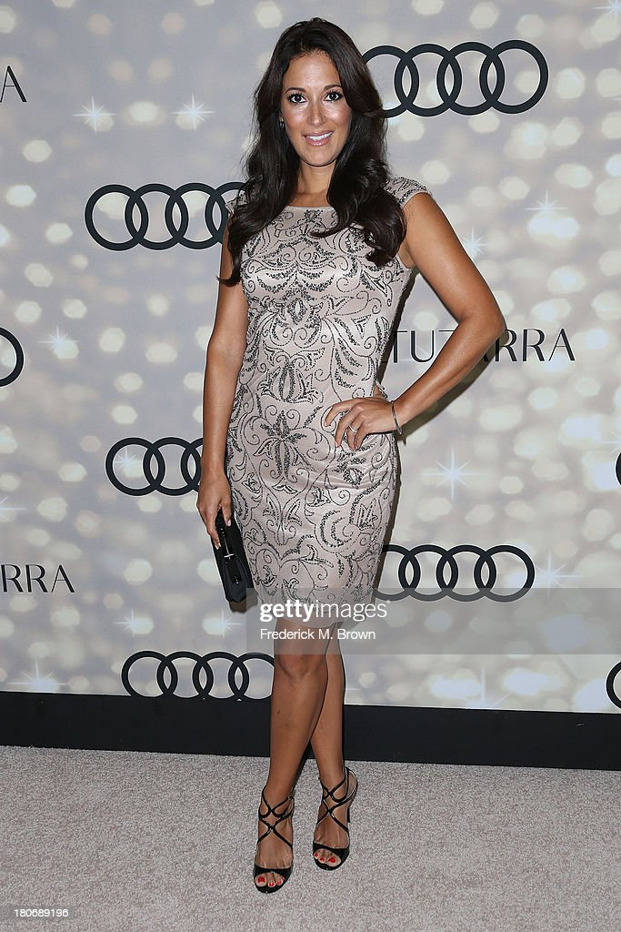 Actress <a gi-track='captionPersonalityLinkClicked' href=/galleries/search?phrase=Angelique+Cabral&family=editorial&specificpeople=7628156 ng-click='$event.stopPropagation()'>Angelique Cabral</a> attends Audi and Altuzarra's Primetime Emmy Awards Week 2013 Kick-Off Party at Cecconi's Restaurant on September 15, 2013 in Los Angeles, California.