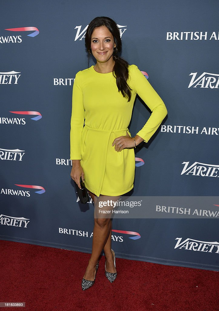 Actress <a gi-track='captionPersonalityLinkClicked' href=/galleries/search?phrase=Angelique+Cabral&family=editorial&specificpeople=7628156 ng-click='$event.stopPropagation()'>Angelique Cabral</a> attends British Airways and Variety Celebrate The Inaugural A380 Service Direct from Los Angeles to London and Discover Variety's 10 Brits to Watch on September 25, 2013 in Los Angeles, California.