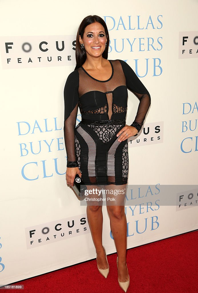 Actress <a gi-track='captionPersonalityLinkClicked' href=/galleries/search?phrase=Angelique+Cabral&family=editorial&specificpeople=7628156 ng-click='$event.stopPropagation()'>Angelique Cabral</a> attends Focus Features' 'Dallas Buyers Club' premiere at the Academy of Motion Picture Arts and Sciences on October 17, 2013 in Beverly Hills, California.